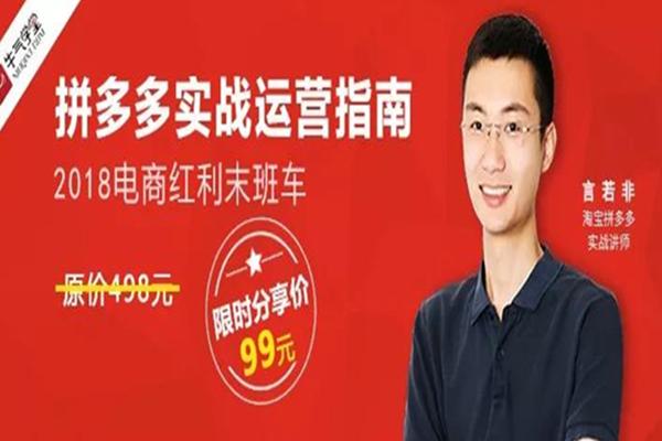 拼多多实战运营指南–【牛气学堂-言若非】(完结)