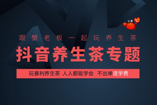 抖音养生茶玩法大揭秘,不赚钱退学费【蟹老板】(完结)