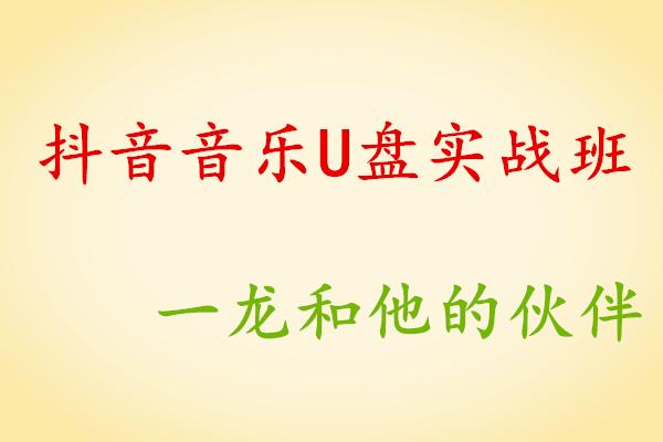 《抖音音乐U盘实战班》第一期【一龙】(原价1999)