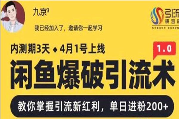 闲鱼爆破引流术【九京】(原价1000)