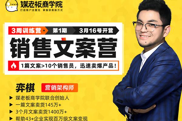 第一期销售文案训练营【媒老板-奕棋】(原价699)