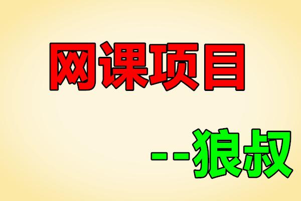 狼叔网课项目3.0【狼叔】(原价1180)
