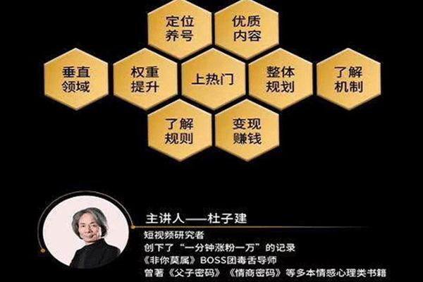 短视频怎么玩着挣钱【杜子建】【20.5.10】(原价99)