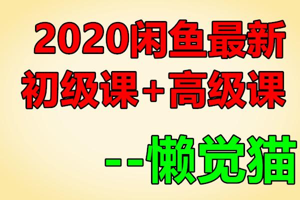 2020闲鱼最新 – 初级+ 高级 课程【懒觉猫】(原价299)