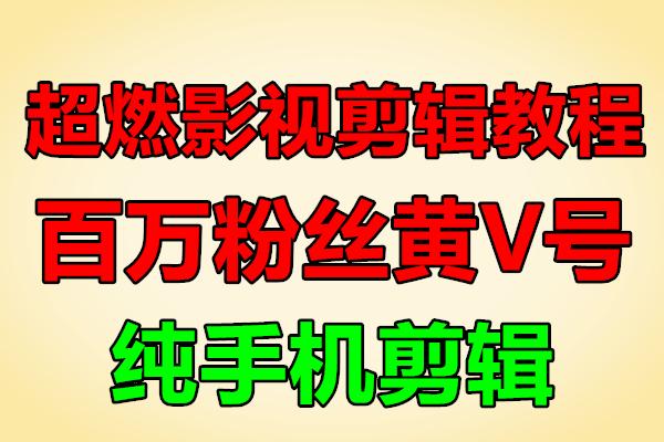 超燃团队影视剪辑教程丨纯手机剪辑(原价599)