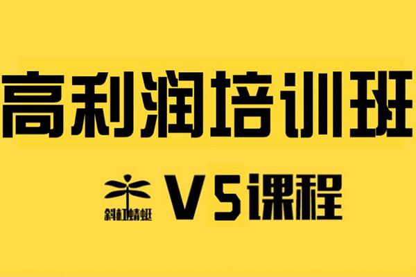 斜杠蜻蜓学员v5班课程【欧阳】(原价598)