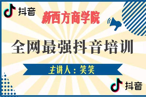 抖音实操班【新西方商学院-笑笑】(原价680)