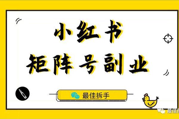 小红书矩阵号副业,最适合新手入门的短视频副业【林戏生】(原价799)
