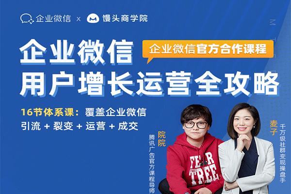 企业微信运营增长全攻略【麦子】(原价99)