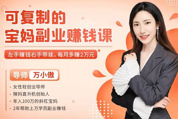 可复制的宝妈副业赚钱课【万小傲】(原价99)